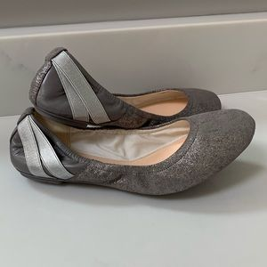 Cole Haan Metallic Strappy Ballet Flats Size 8